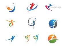 Health life and Fun logo Stock Image