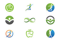 Health life and Fun logo Stock Photography