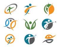 Health life logo Stock Photo