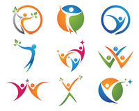 Health life logo Royalty Free Stock Photography