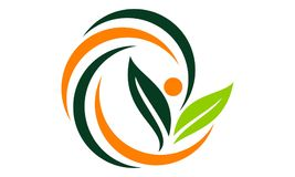 Health life Nutrition. Logo Design Template Vector Stock Photography