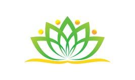 Health Life Spa en yoga royalty-vrije illustratie
