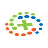 Health logo with circle. logo vector illustration Stock Photography