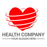 Health logo design template Stock Images