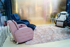 Health massage chairs sales in shopping malls Stock Image