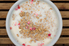 Musli/Cereal and milk Royalty Free Stock Photography