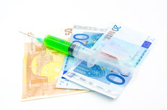 Health is measured in money Royalty Free Stock Image