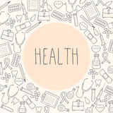 Health. Medical background. Vector Illustration Royalty Free Stock Photos
