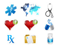 health and medical concept icon set illustration Stock Photo