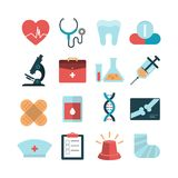 Health and medical icons Royalty Free Stock Photo