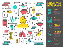 Health and medical line art Royalty Free Stock Image