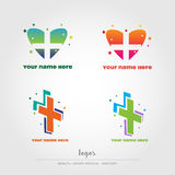 Health, medical, sanitay logos, vectorial file Royalty Free Stock Photography
