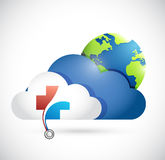 Health medical storage network concept. Illustration design isolated over white Stock Photography