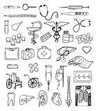 Health and medical vector set Stock Photos