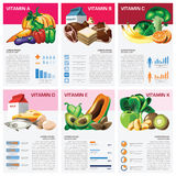 Health And Medical Vitamin Chart Diagram Infographic Stock Images