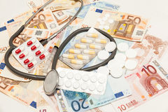 Health medications money Stock Images