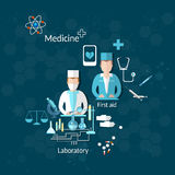Health and Medicine, doctor, pharmacy, research Royalty Free Stock Image