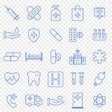 Health and Medicine Icon set. 25 Vector Icons Pack royalty free illustration