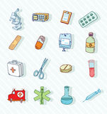 Health and medicine icons.vector Royalty Free Stock Images