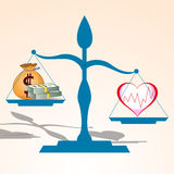 Health is more valuable than money vector Stock Photography