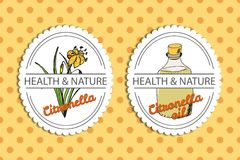 Health and Nature Collection. Citronella Stock Images