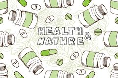 Health and Nature Supplements Collection Stock Image