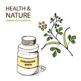 Health and Nature Supplements Collection Stock Images