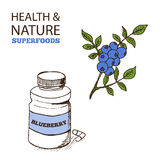 Health and Nature Supplements Collection Royalty Free Stock Photos