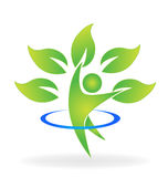 Health nature tree figure logo Stock Photo