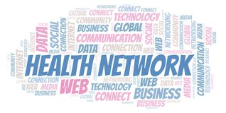 Health Network word cloud stock illustration
