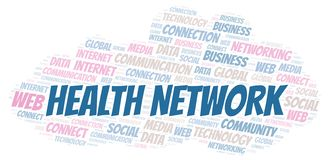Health Network word cloud royalty free illustration