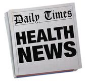 Health News Headlines Newspaper Information. 3d Illustration Stock Images
