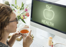 Health Nutrition Apple Healthy Eating Organic Concept Stock Image