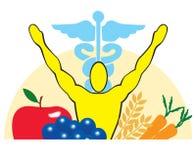 Health, Nutrition and Medicine logo icon Royalty Free Stock Photo