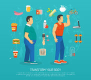 Health And Obesity Illustration Stock Photos