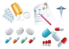 Health objects Royalty Free Stock Photo