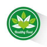 Health and organic food design Royalty Free Stock Images
