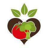 Health and organic food design Stock Photo
