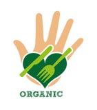 Health and organic food design Royalty Free Stock Image