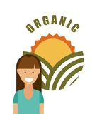 Health and organic food design. Illustration eps10 graphic Royalty Free Stock Photo