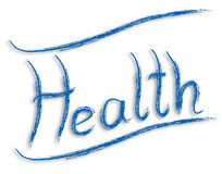 Health paint. Health word paint illustration blue on a white background Royalty Free Illustration