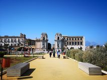 Health park, parco della salute, Livia Morello, Palermo. Sicily, Italy blue city people seaside sky sport town workout stock photography
