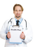 Health plan from healthcare professional Stock Images