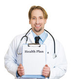 Health plan from healthcare professional Stock Image
