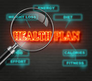 HEALTH PLAN. Writing   words ' HEALTH PLAN '  on bricks  background made in 2d software Stock Images