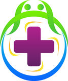Health plus logo. A vector drawing represents health plus logo design Stock Photos