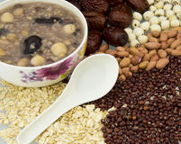 Health porridge ingredients Royalty Free Stock Photography