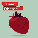 Health problem with heart disease isolated background Royalty Free Stock Photo