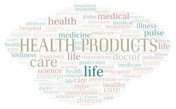 Health Products word cloud. Wordcloud made with text only royalty free stock photography