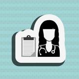 Health professional design. Illustration eps10 graphic Royalty Free Stock Photos